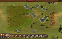 Troops in a strategic battle